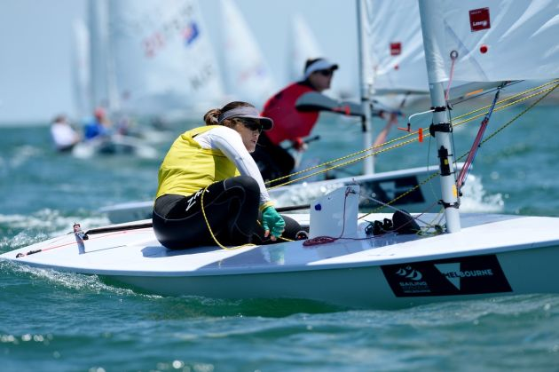 Ashley Stoddart at the ISAF World Cup Melbourne. Photo Jeff Crow/Sport the Library.