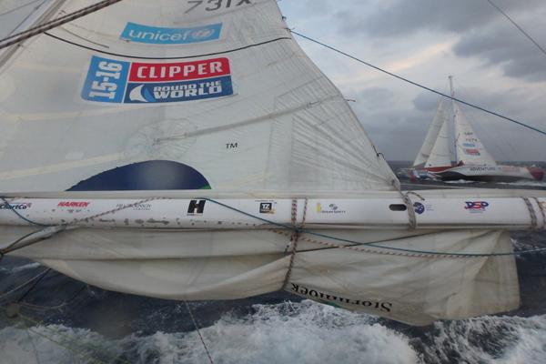 Clipper fleet leaving Seattle. Photo Clipper Ventures.