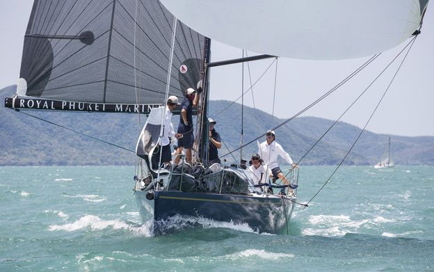 Jessandra II on their way to two wins in IRC 2 today. Photo by Guy Nowell/ Top of the Gulf Regatta.