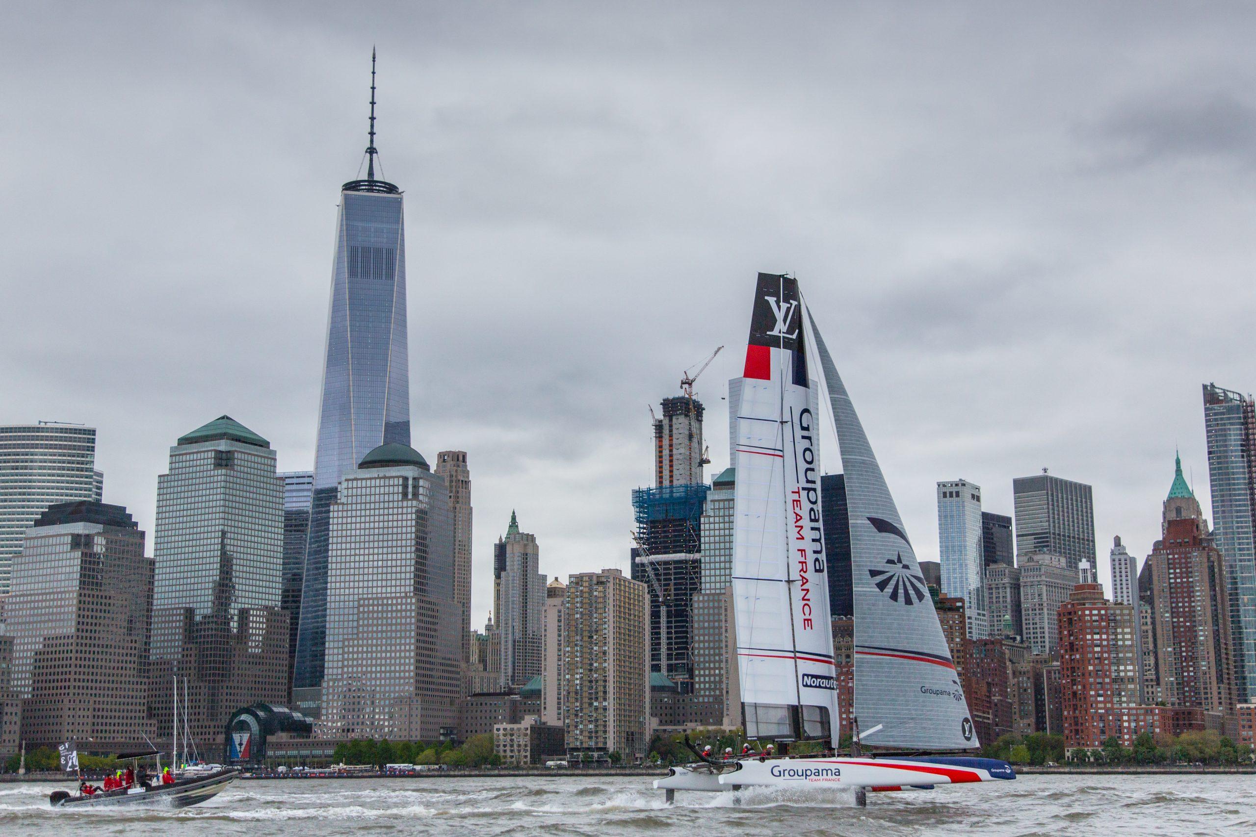 Groupama Team France in Manhattan. Photo ACEA/Groupama.
