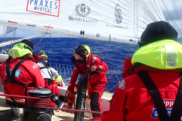 On board during the Clipper Race. Photo Clipper Ventures.
