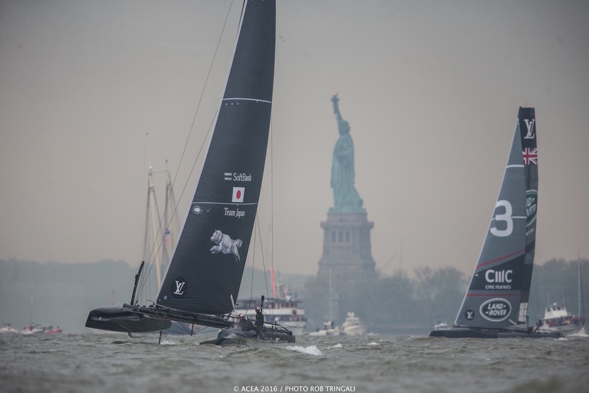 America's Cup racing in New York. Photo Rob Tringali/ACEA.