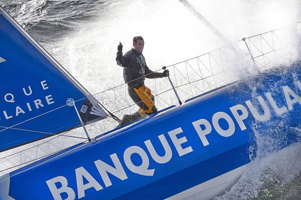 Armel Le Cléac'h on the foiler Banque Populaire. Photo Yvan Zedda.
