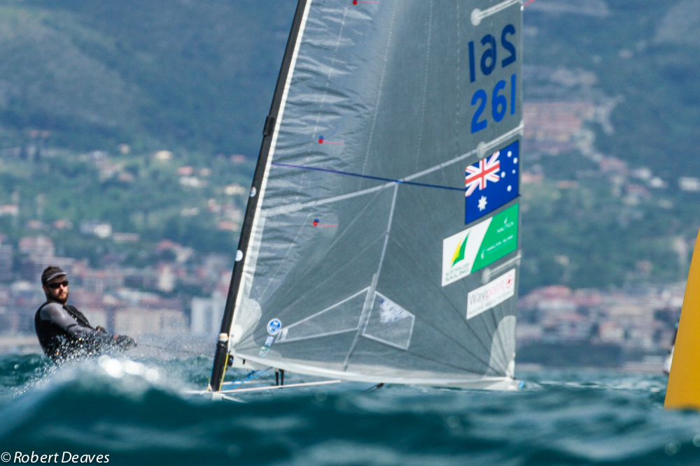 Jake Lilley at the Finn Gold Cup. Photo Robert Deaves.