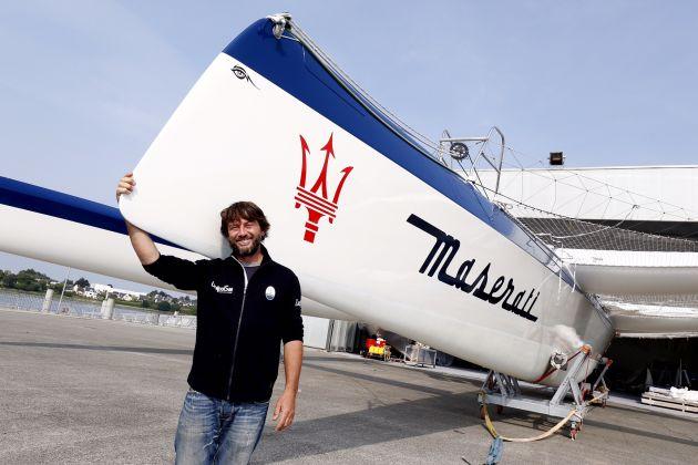Giovanni Soldini with Maserati