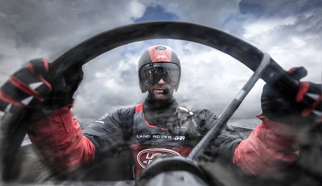 Skipper and Team Principal Ben Ainslie on the helm. Photo (c) Harry KH.
