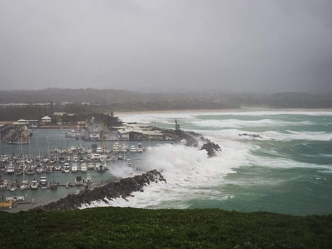 Damage at Coffs Harbour Marina.  Photo Marine Rescue NSW.