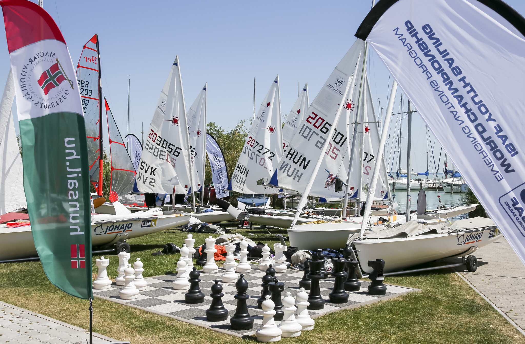 Chess helps the South Africans relax during a regatta. Photo World Sailing.