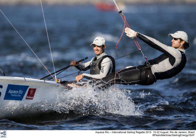 Lucas Calabrese/Juan De La Fuente (ARG) on the Rio course. Photo Pedro Martinez/Sailing Energy/Word