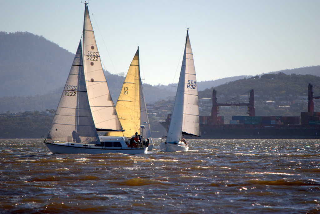 Engenue on her way to her third win in the RYCT Winter Series