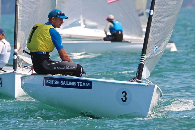 Giles Scott at the Finn Gold Cup 2015. Photo Robert Deaves.