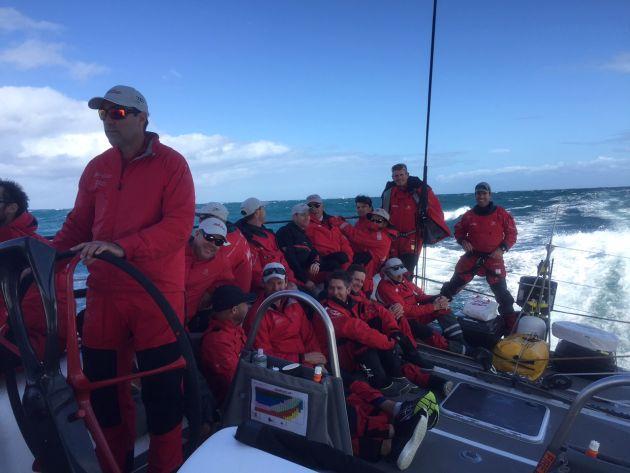 On board Wild Oats XI in the Keppel Race. Photo Tim Wiseman.