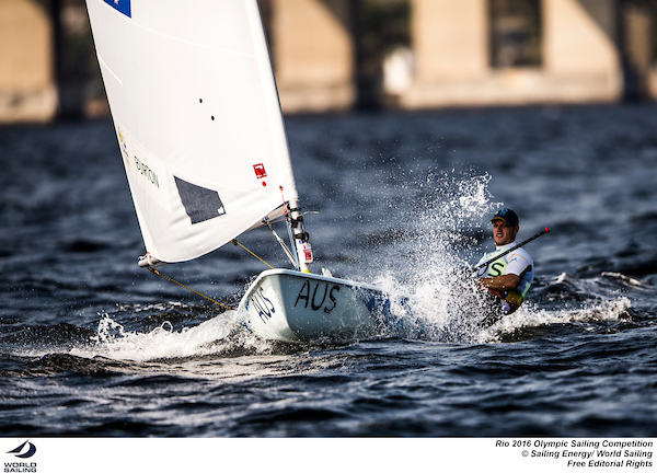 Tom Burton at Rio 2016. Photo Sailing Energy/World Sailing.