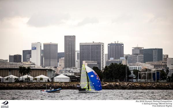 Nathan Outteridge and Iain Jensen at Rio 2016. Photo Sailing Energy/World Sailing.
