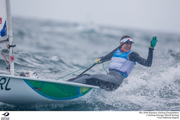 Annalise Murphy (IRE). Photo Sailing Energy/World Sailing.