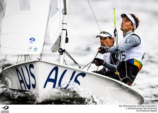 Mat Belcher and Will Ryan (AUS). Photo Sailing Energy/World Sailing.