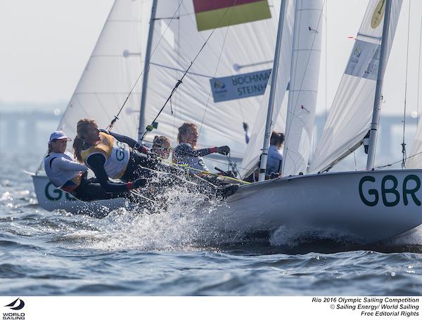 470 Women GBR. Photo Sailing Energy/World Sailing.