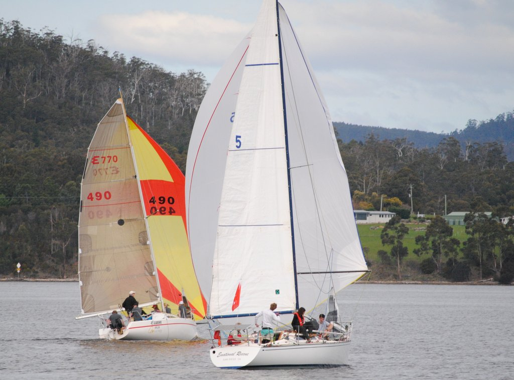 Ellusive and Emotional Rescue contesting the Cock of the Huon