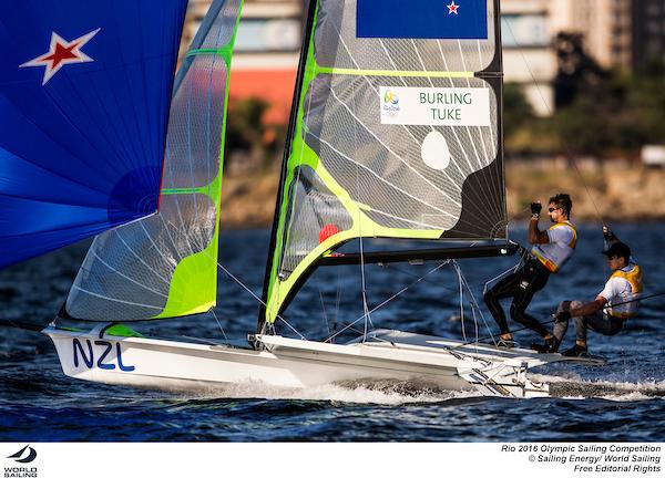 Peter Burling and Blair Tuke (NZL). Photo Sailing Energy/World Sailing.