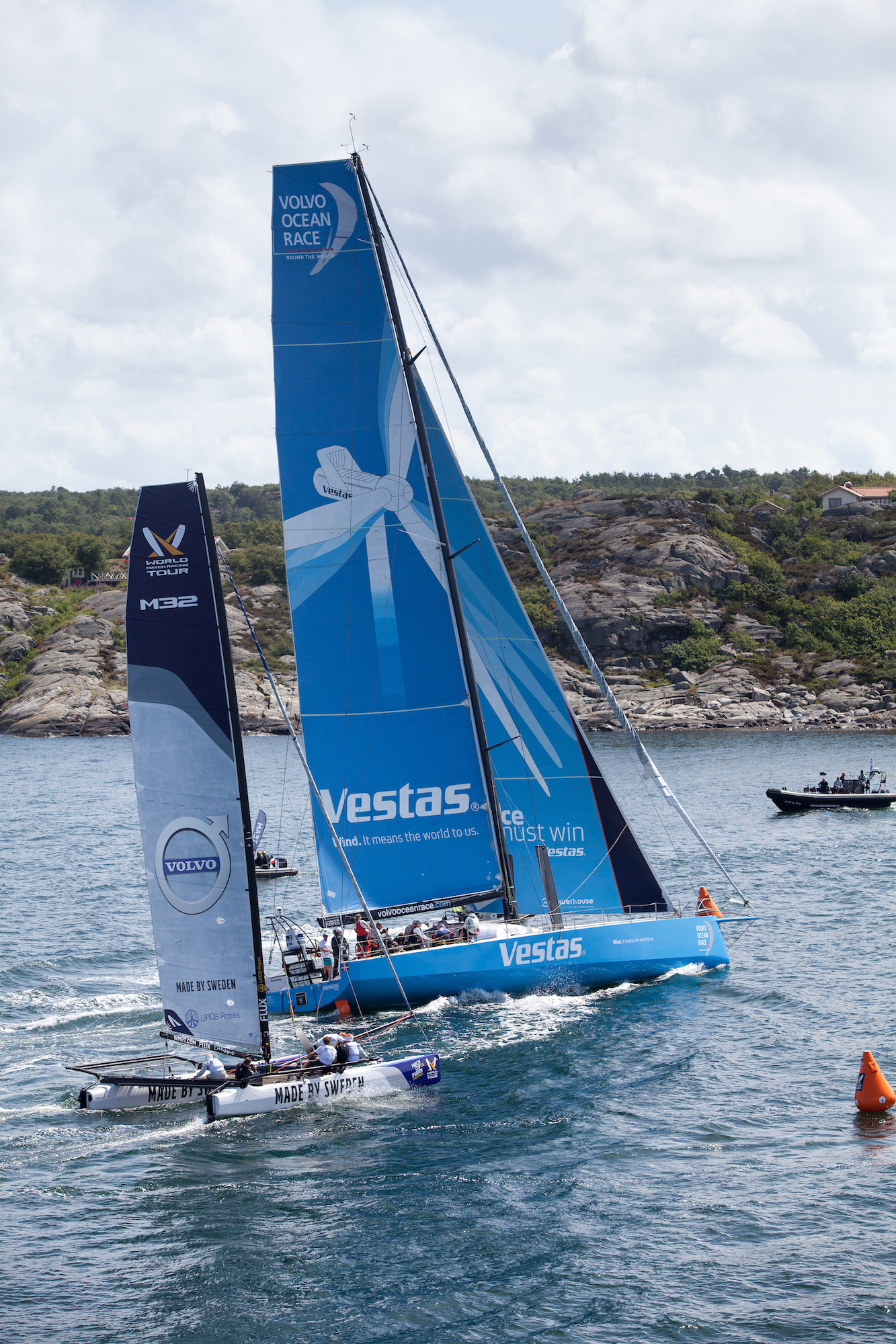 Each team will get a M32 catamaran for guest racing during the Volvo Ocean Race. Photo WMRT.