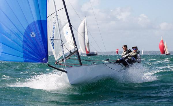 Two-handing in the Coastal Classic. Photo Ivor Wilkins