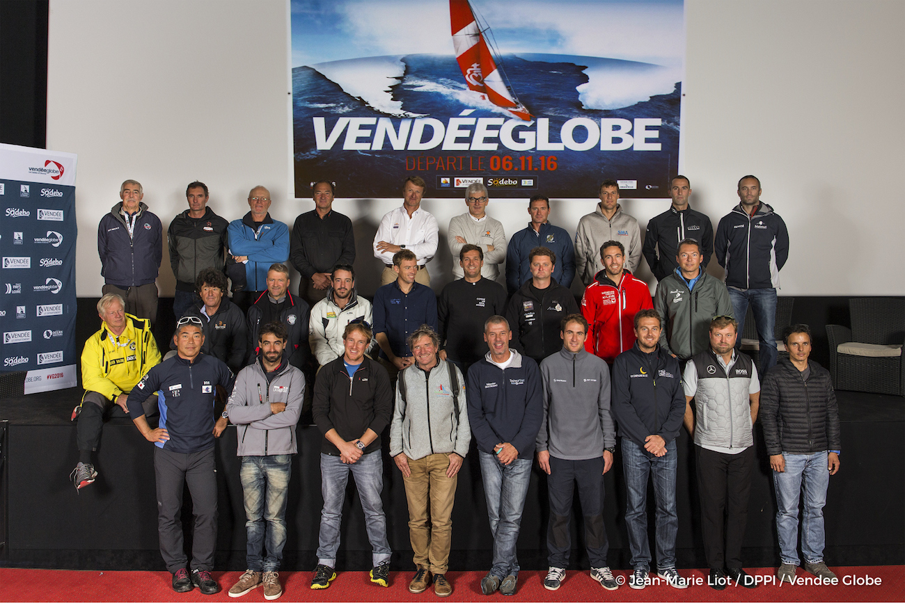 Skippers of the eighth Vendée Globe. Photo Jean Marie Liot/DPPI.