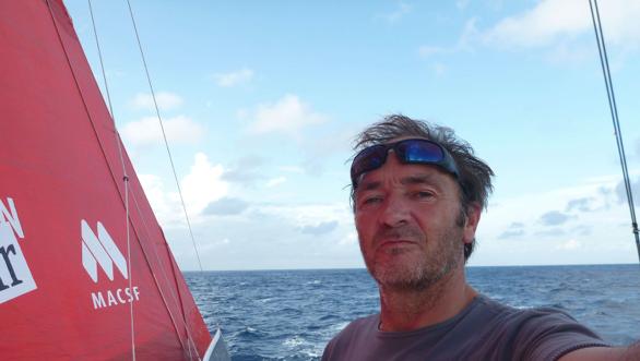 Bertrand de Broc on board MACSF during the Vendee Globe. Photo supplied by Vendee Globe.