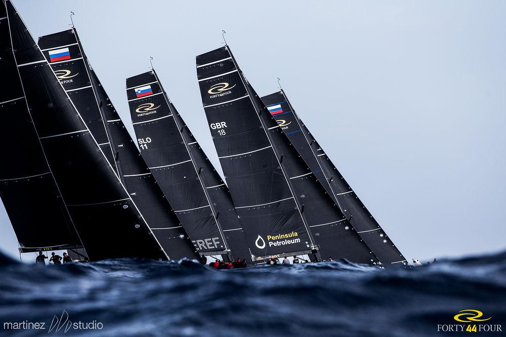 Fleet racing in the rolling Maltese swell. Photo MartinezStudios.