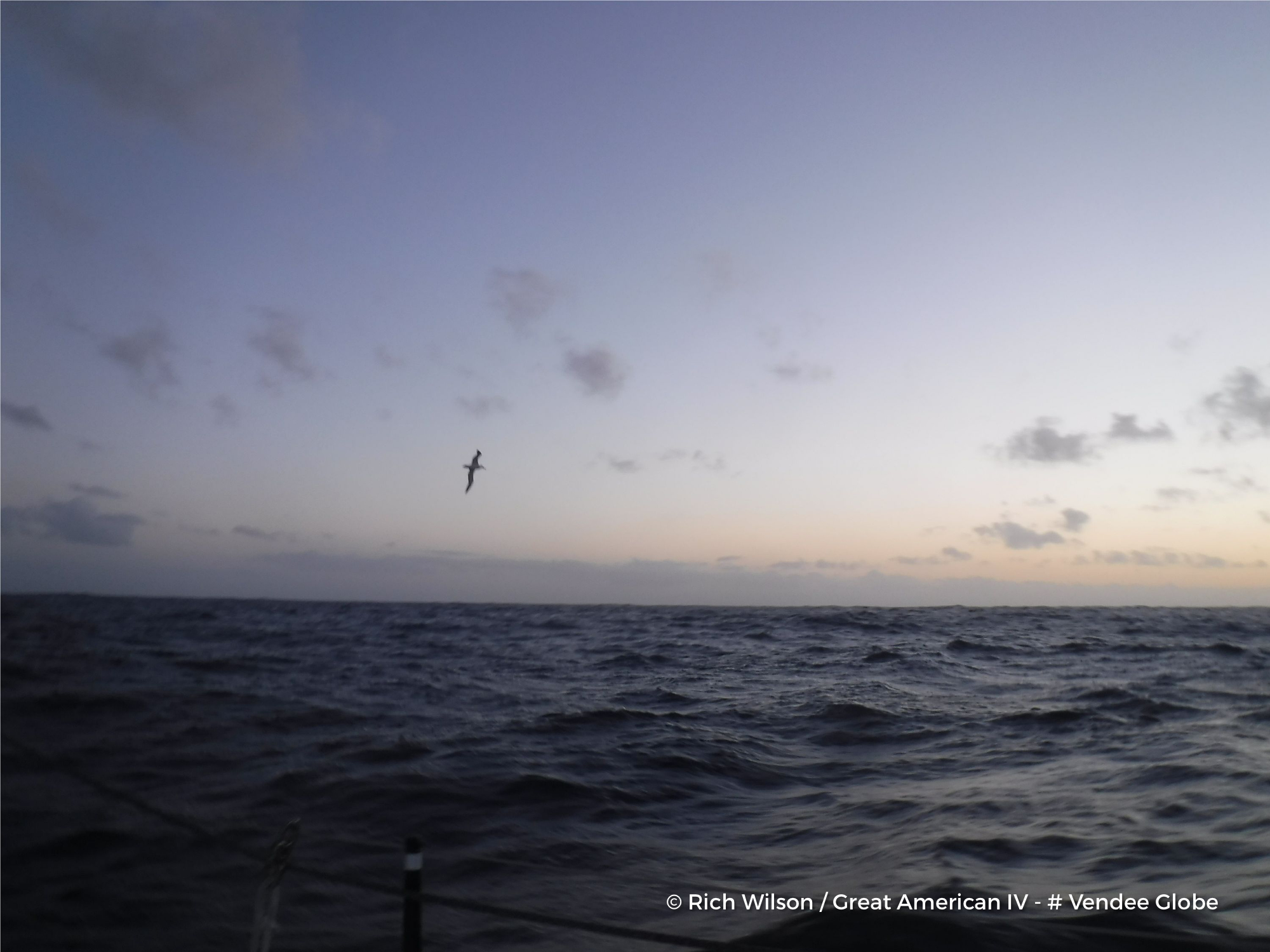 View from onboard during the Vendee Globe. Photo Rich Wilson/Great American IV.