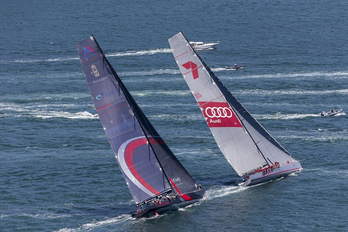 Scallywag and Wild Oats XI in tight racing - Credit Andrea Francolini.