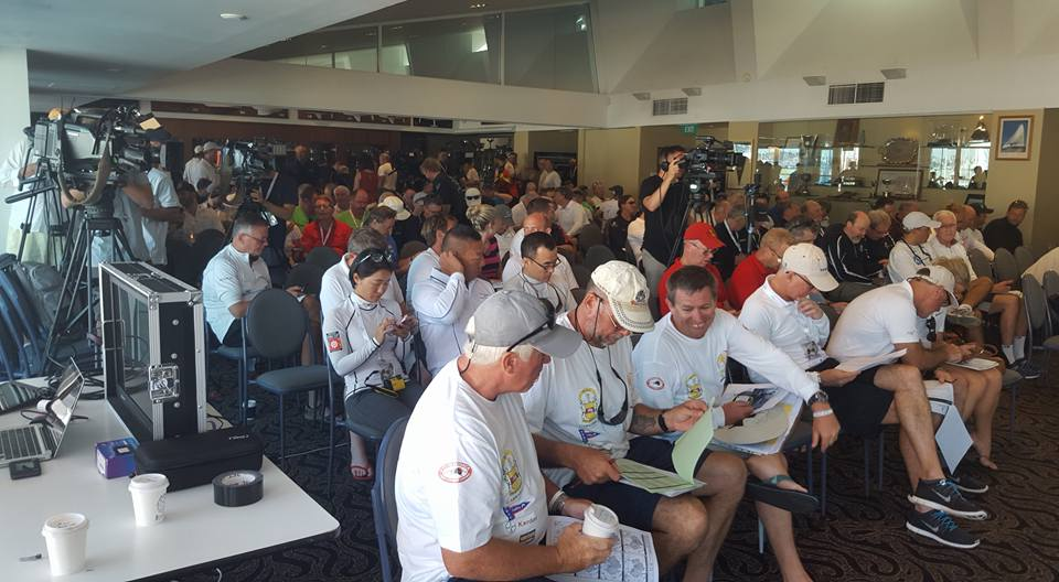 The final weather briefing for the 2016 Rolex Sydney Hobart. Photo Andrea Francolini/CYCA.