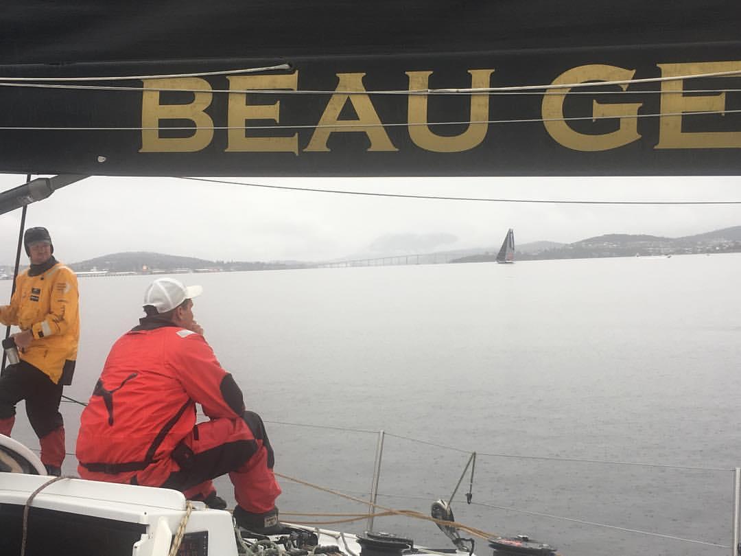 Beau Geste on the windless Derwent. Photo Beau Geste crew.