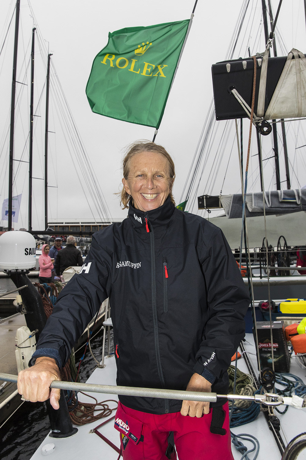 Adrienne Cahalan at the dock after her 25th Sydney Hobart Yacht Race. Photo Andrea Francolini.