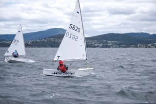 Top placed Tasmanian in the Sabot nationals was Daniel Maree from the Royal Yacht Club of Tasmania. Photo Rob Gasparini.