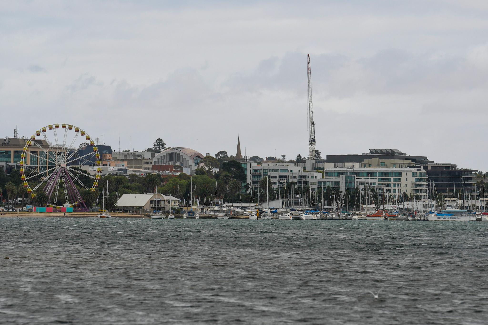 Plenty of breeze on Corio Bay. Photo LaFoto.