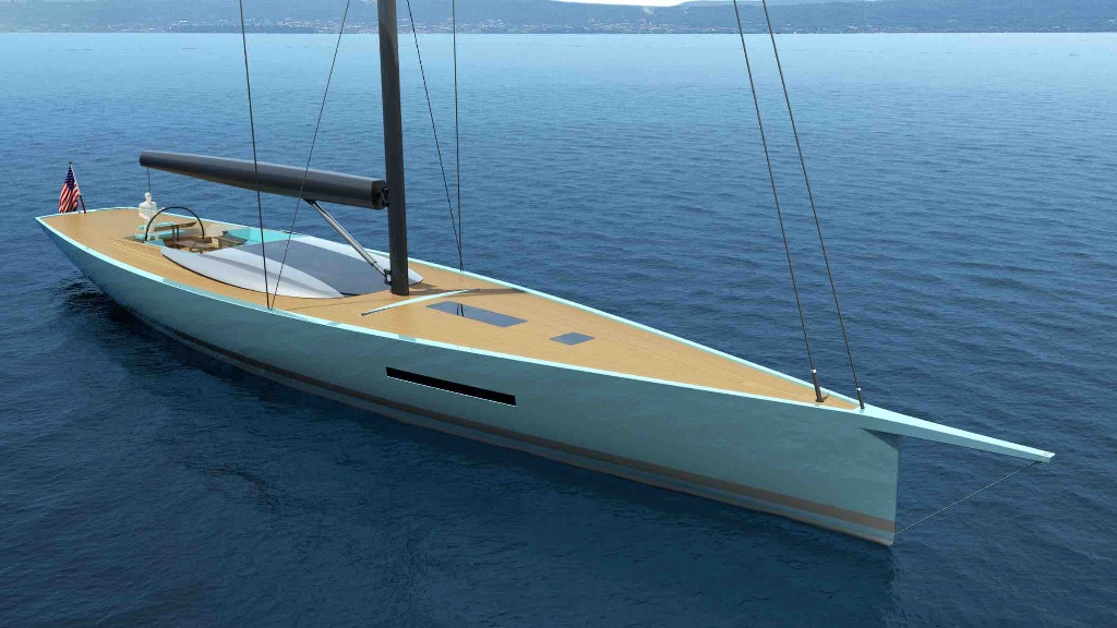 The new Philippe Briand 100ft/30m carbon sloop concept
