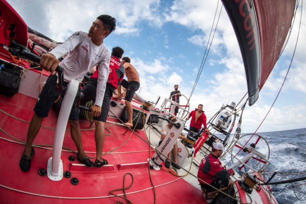 Dongfeng during the Volvo Ocean Race. Photo Sam Greenfield / Dongfeng Race Team / Volvo Ocean Race.