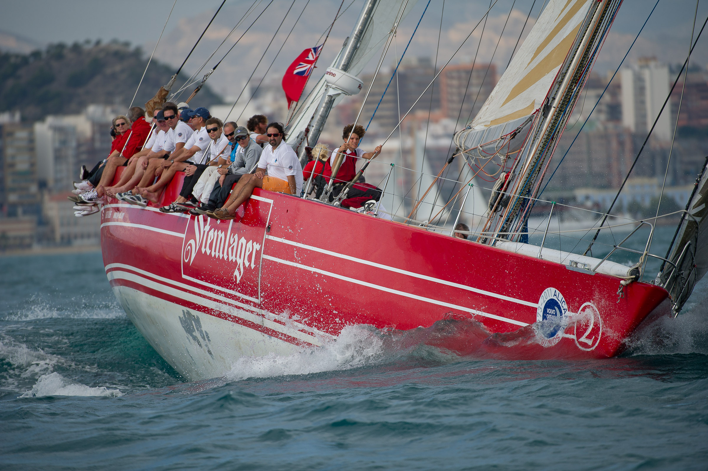 Steinlager is among the yachts invited to compete in the legends race. Photo supplied by Volvo Ocean Race.