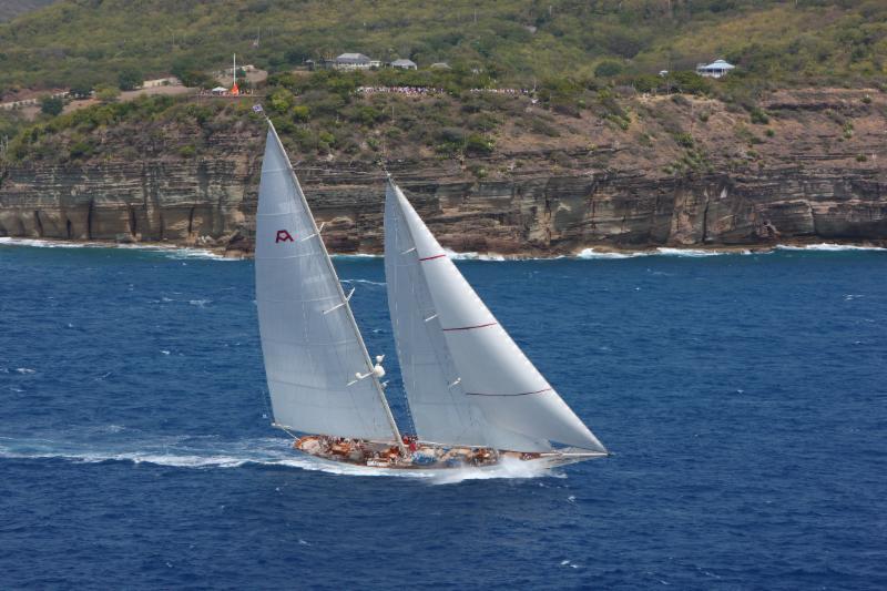 Adela starting the RORC Caribbean 600 off the Pillars of Hercules