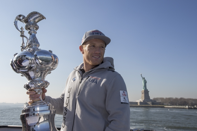James Spithill in New York. Photo Rob Tringali / ACEA.