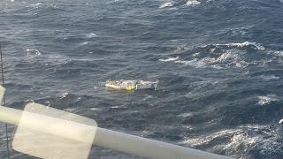The dismasted Clyde Challenger. Photo HM Coastguard.