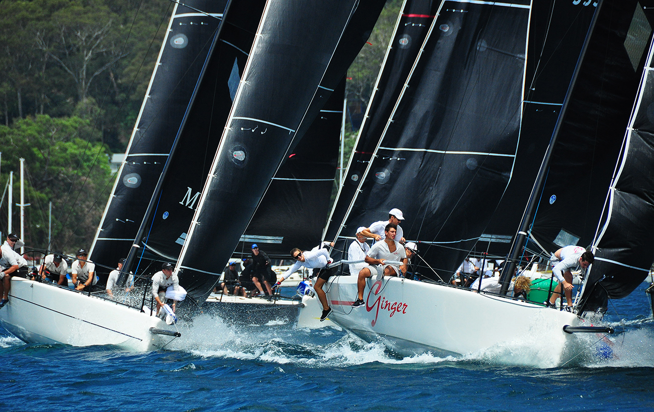Ginger leads the fleet after day one of the Australian Championship. Photo Bob Fowler