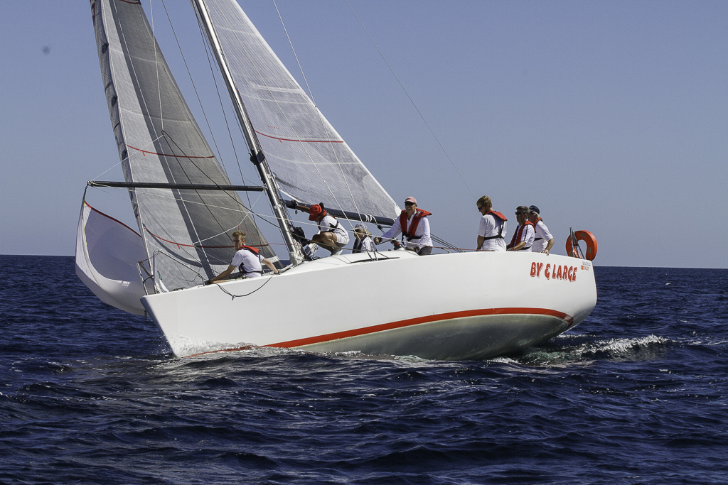 Denys Pearce's Bakewell-White 36 completed the regatta with a worst placing of second to convincingly tie up the IRC title. Photo Bernie Kaaks.
