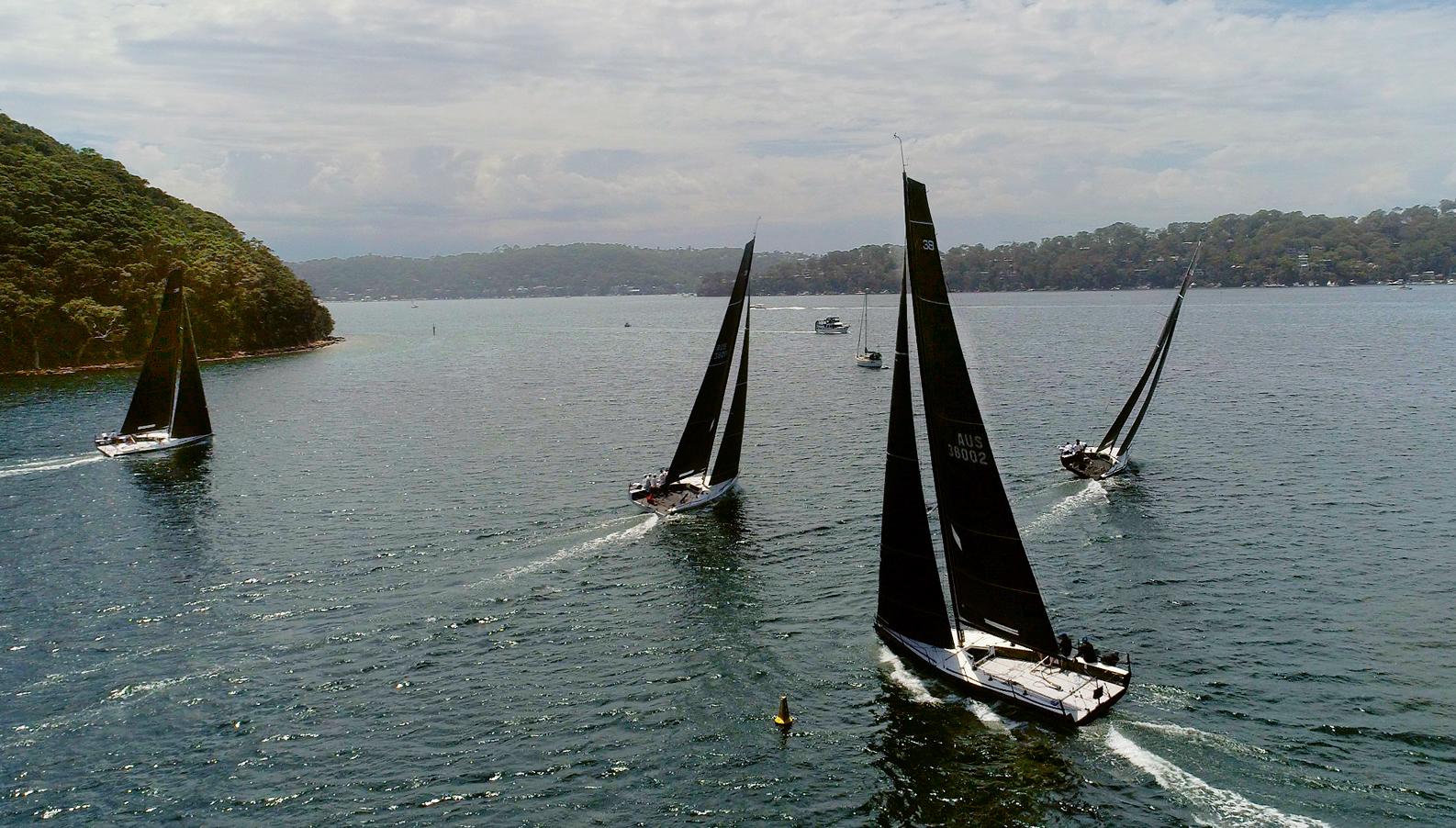 MC38 Fleet at the Australian Championship 2017. Photo Bob Fowler.