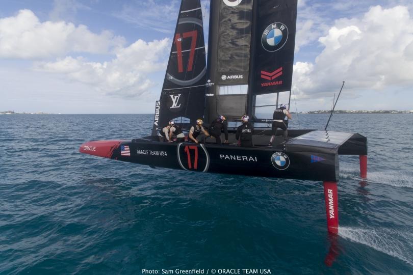 The Oracle America's Cup Class catamaran. Photo Sam Greenfield/Oracle Team USA.