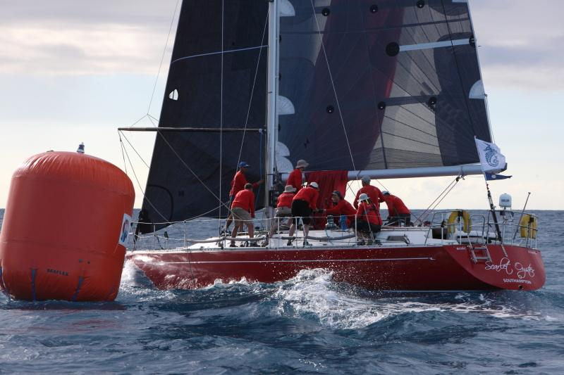 Scarlet Oyster at Barbuda Mark © RORC/Tim Wright.