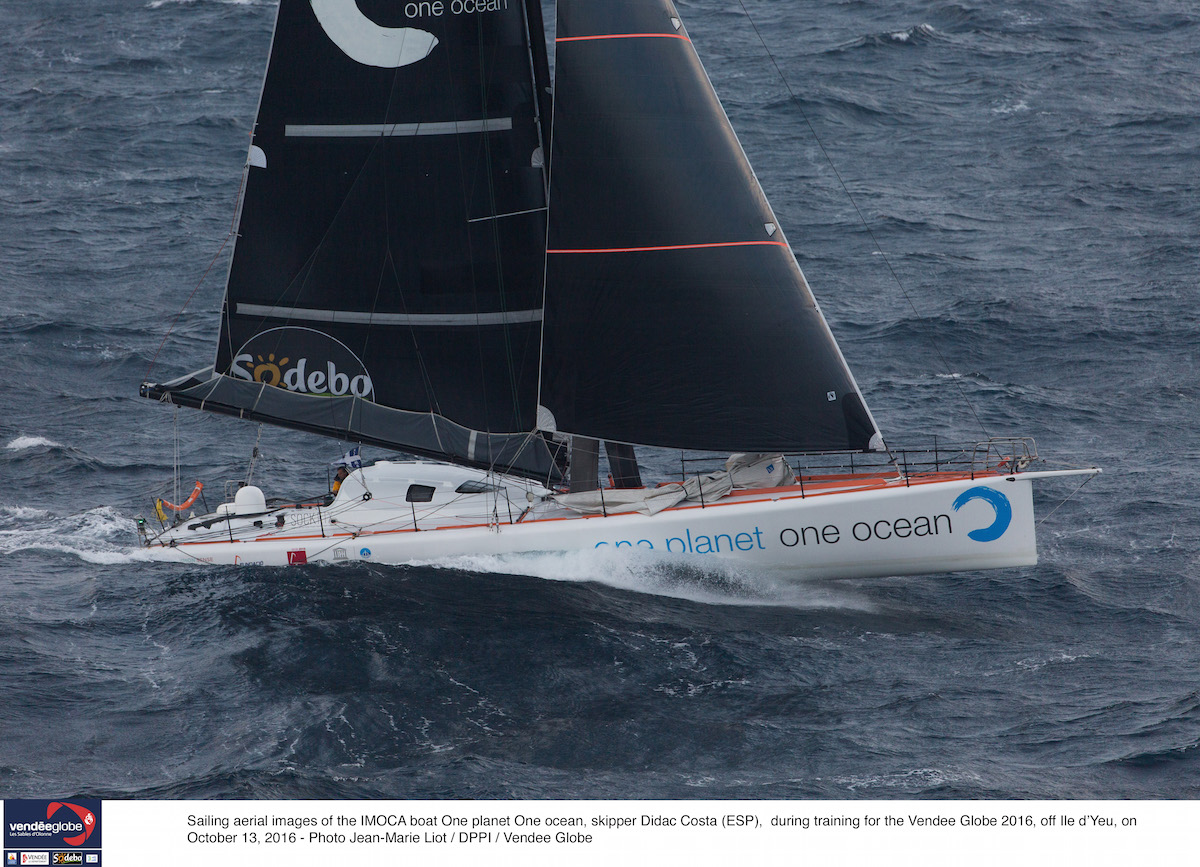 Didac Costa on One Planet One Ocean. Photo Olivier Blanchet/DPPI/Vendee Globe.