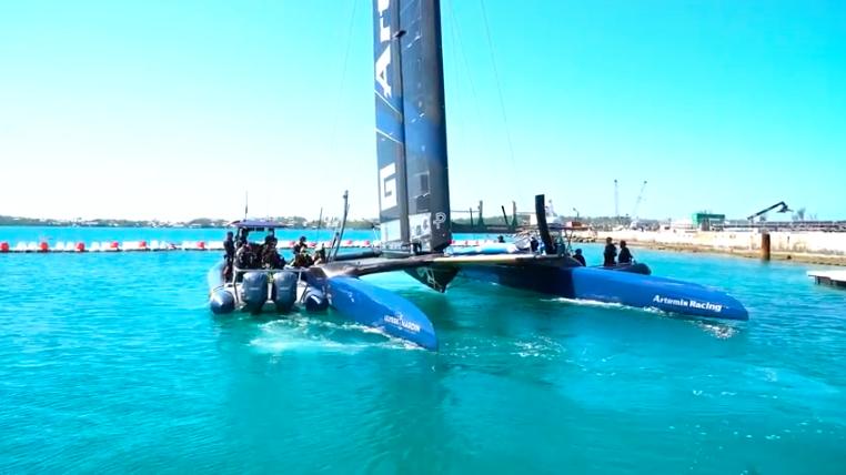 Magic Blue in Bermuda. Photo Artemis Racing.