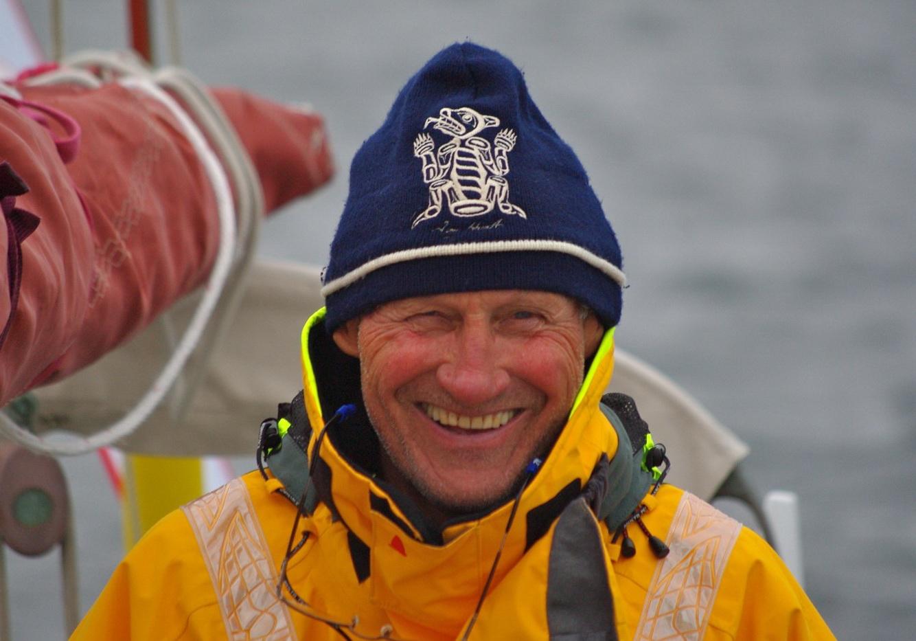 Michael Johnson wins the Blue Water Award. Photo CCA.