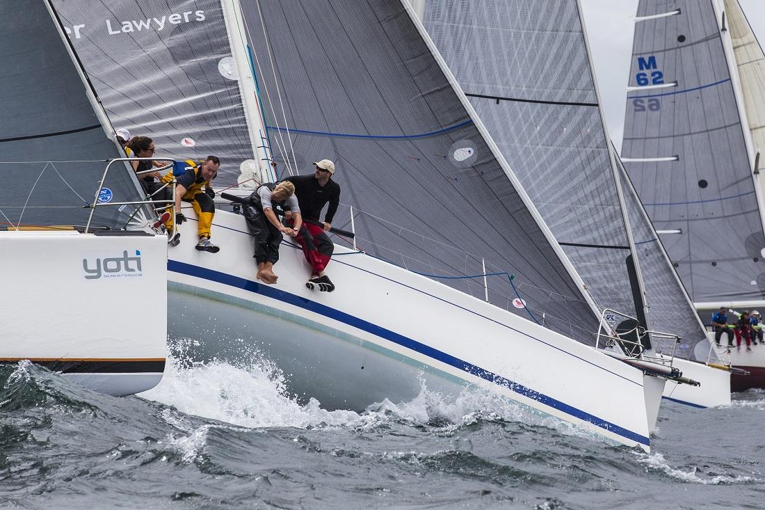 Close quarters in the Sydney 38 fleet at the Sydney Harbour Regatta. Photo Andrea Francolini/MHYC.